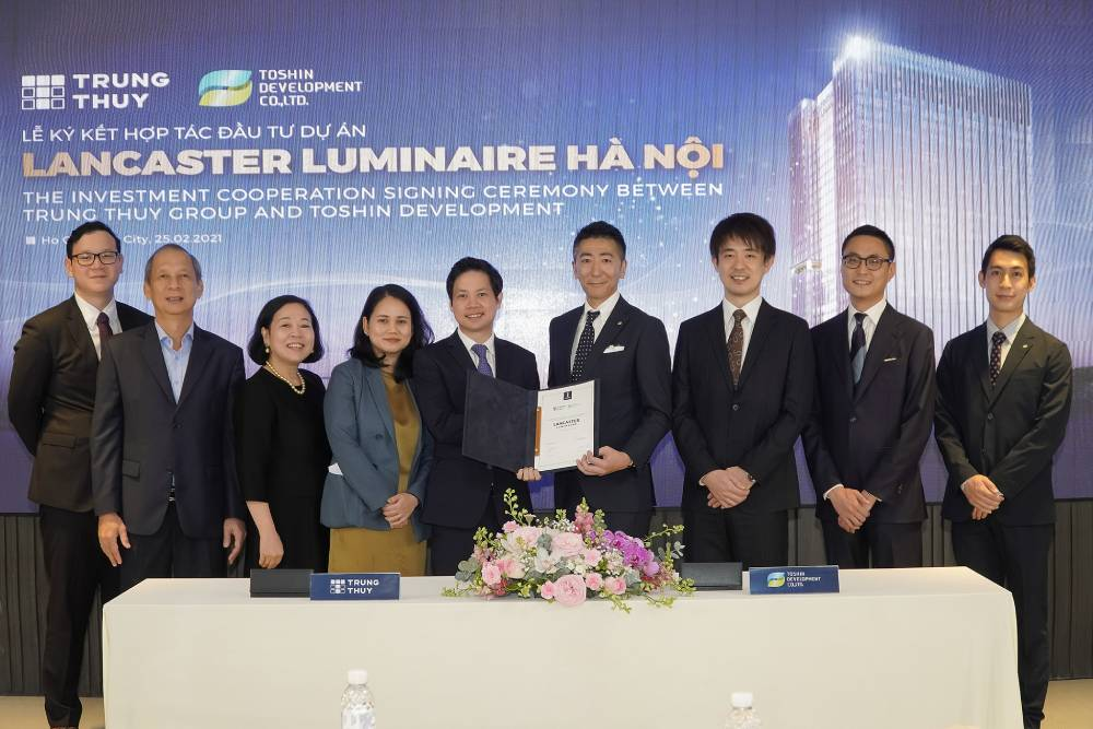 Tập đoàn Takashimaya bắt tay cùng Tập đoàn Trung Thủy đầu tư vào Dự án phức hợp căn hộ – văn phòng - trung tâm thương mại Lancaster Luminaire